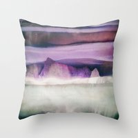 northern lights Throw Pillows featuring Northern Lights by SpaceFrogDesigns