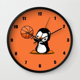 Basketball Penguin (2) Wall Clock
