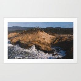 Waves Crashing along the Oregon Coast Art Print