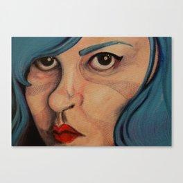 All Angsty Teens Dye Their Hair Blue  Canvas Print