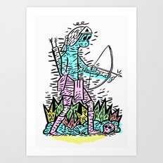 Bow man Art Print