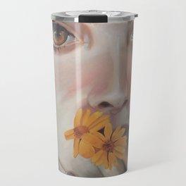 La ragazza coi fiori Travel Mug