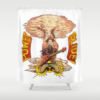 heavy metal Shower Curtains featuring Heavy Metal Power Slide. by Toni Caputo