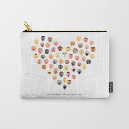 Vulva Heart - The Vulva Gallery Carry-All Pouch