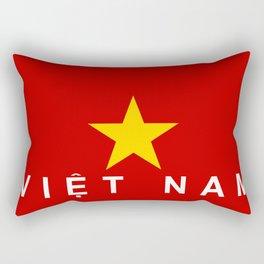 vietnam country flag viet nam name text Rectangular Pillow
