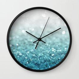 MERMAID GLITTER - MERMAIDIANS AQUA Wall Clock