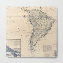 Old Maps 187 Metal Print