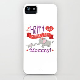 Happy Mothers Day Message Best Mom Elephant Gift iPhone Case