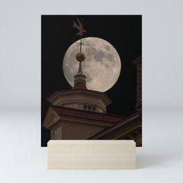 Moon Over Mount Vernon Mini Art Print