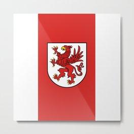 flag of zachodniopomorskie or west pomerania Metal Print