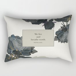 We live and breathe words. Will Herondale. Clockwork Prince. Rectangular Pillow