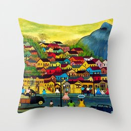 African American Masterpiece 'Today is the Day' by H. Dos Prazeres Throw Pillow