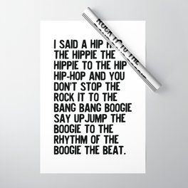 RAPPERS DELIGHT Hip Hop CLASSIC MUSIC Wrapping Paper