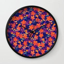 Japanese Garden: Blossoms Dk Wall Clock