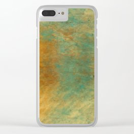 Copper and Turquoise Clear iPhone Case