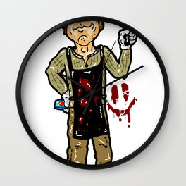 Dexter Morgan:  Splattered Portrait of a Serial Killer/ Miami PD Cop /Brother / Dad / Showtime STAR! Wall Clock