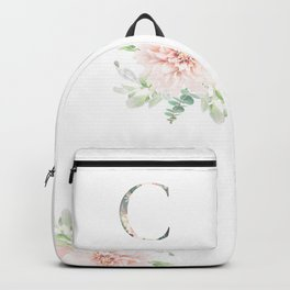 C - Floral Monogram Collection Backpack