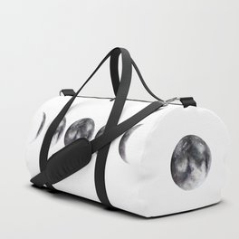 Moon phases watercolor painting Duffle Bag