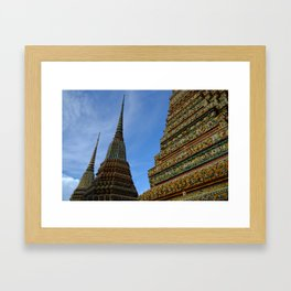 Temple Tops Framed Art Print