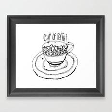 Cup of Teeth Framed Art Print