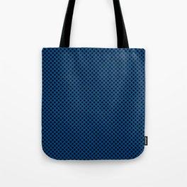 Lapis Blue and Black Polka Dots Tote Bag