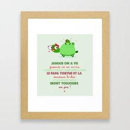 Famille tortue Framed Art Print