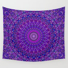 Lace Mandala in Purple and Blue Wall Tapestry
