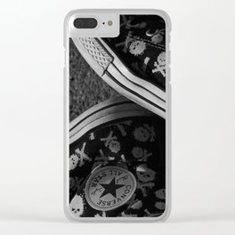 All Star and Skulls Clear iPhone Case