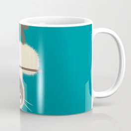 Funny Siamese Kitten upside down Coffee Mug