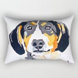 Beagle Dog Portrait Rectangular Pillow