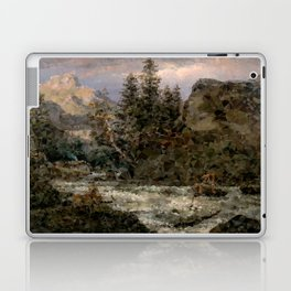 Mountain Landscape at Sunset Low Poly Geometric Triangles Laptop & iPad Skin