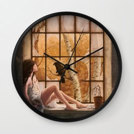 The Raven's Call Wall Clock
