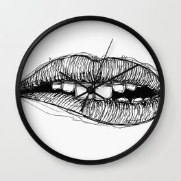 Sketchy Lips Wall Clock