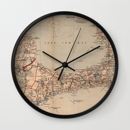 Vintage Map of Cape Cod MA (1905) Wall Clock