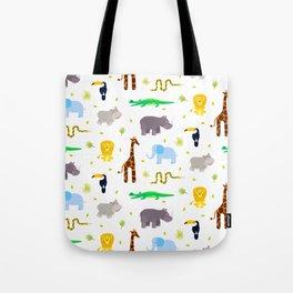 Wild african animals pattern Tote Bag