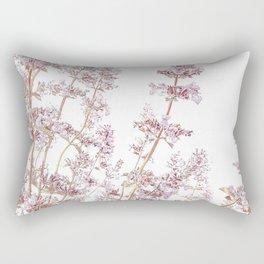 Soft Pink Wild Summer Flowers Rectangular Pillow
