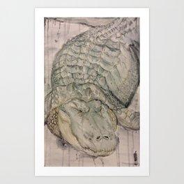 Watercolor Crocodile Art Print