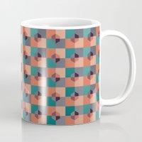 hexagon Mugs featuring Hexagon Pattern by Negin Khatoun