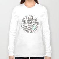 kittens Long Sleeve T-shirts featuring Kittens by Audur Yr