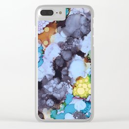 Inky Bubbles Clear iPhone Case