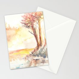 Watercolor Landscape 03 Stationery Cards
