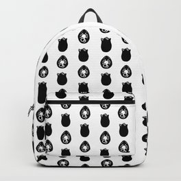 Alien Eggs Pattern White and Black Backpack