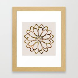 Floral Design Ornament Framed Art Print