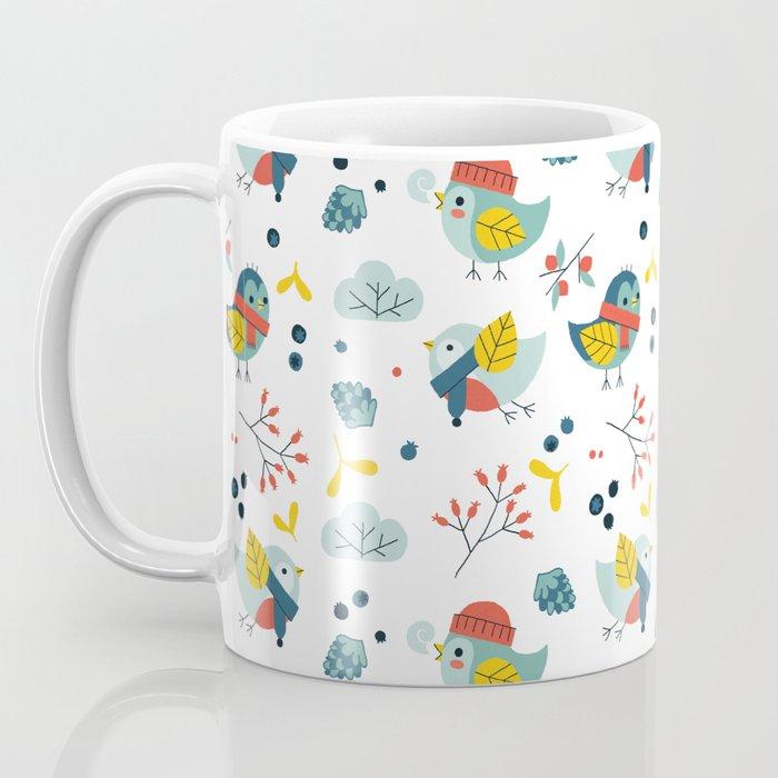 winter birds pattern Coffee Mug