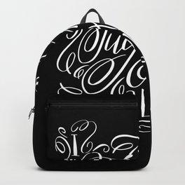 I Fucking Love You Calligraphy Flourished Design Backpack