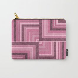 Geometric pink marble pattern Carry-All Pouch