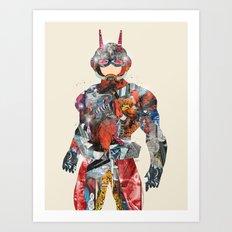 pop art antman  Art Print