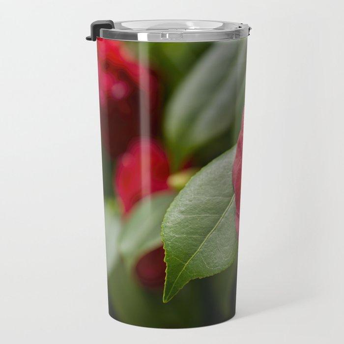 Red Camellia Travel Mug