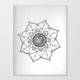 Hand Drawn Unalome Mandala Canvas Print