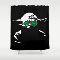 yoda Shower Curtains featuring Yoda by eARTh